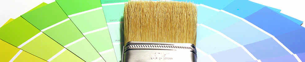 commercial paint and brush