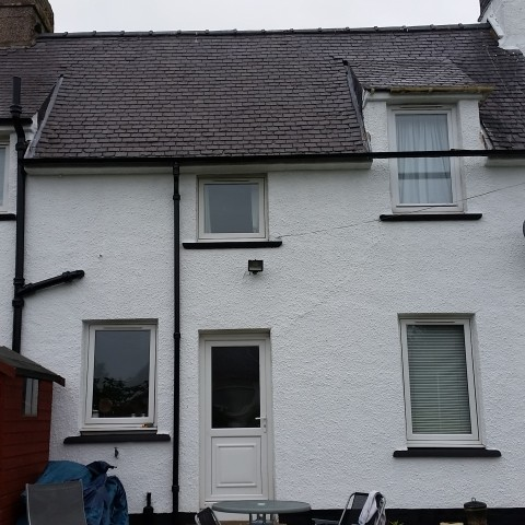 Rear of house after