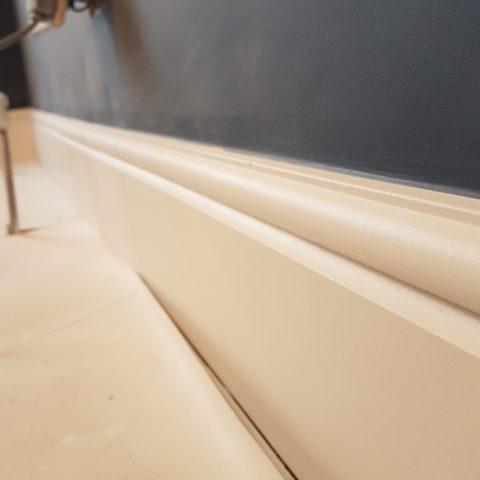 Wood Trim Airless Sprayed