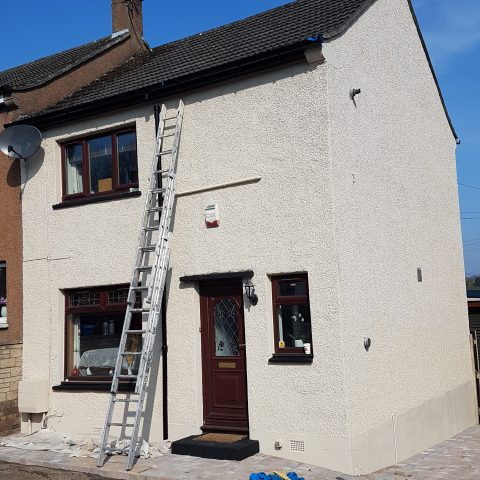 Exterior Spray Painting After