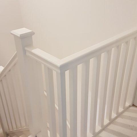 Handrail & Spindles Airless Sprayed